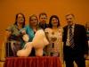 Vítězka Pragobestu - Melanie Verveake, rozhodčí - zleva Kitty Ponnet, Martial Carré, Kitty Cook a Ing. Miroslav Bucek - pořadatel soutěže